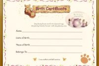 Teddy Bear Birth Certificate  Teddy Bear Tea  Teddy Bear Crafts inside Build A Bear Birth Certificate Template