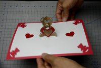 Teddy Bear Pop Up Card Tutorial  Youtube within Teddy Bear Pop Up Card Template Free