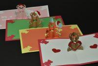 Teddy Bear Pop Up Card Valentines Day Birthday Christmas Baby for Teddy Bear Pop Up Card Template Free