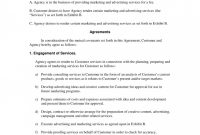 Television Advertising Contract Agreement intended for Tv Advertising Agreement Template