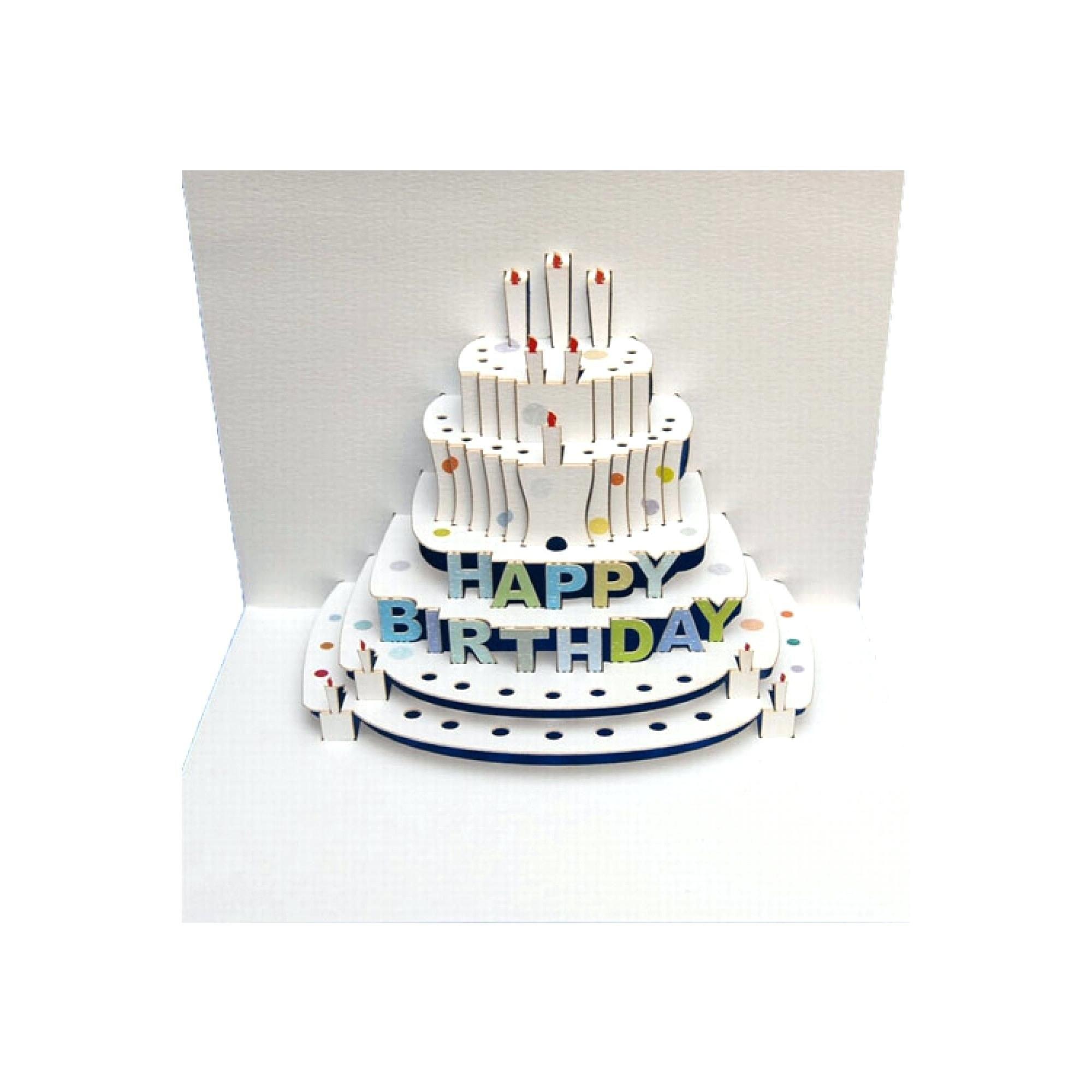 Template Birthday Cake Pop Up Card Template Happy Kirigami Tutorial Pertaining To Happy Birthday Pop Up Card Free Template