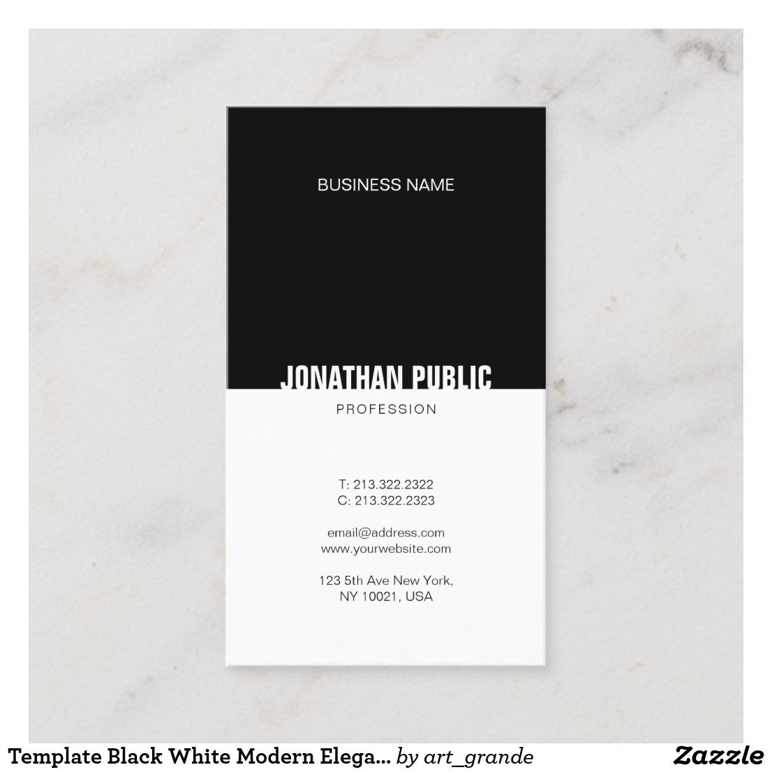 Template Black White Modern Elegant Professional Business Card Throughout Cards Against Humanity Template