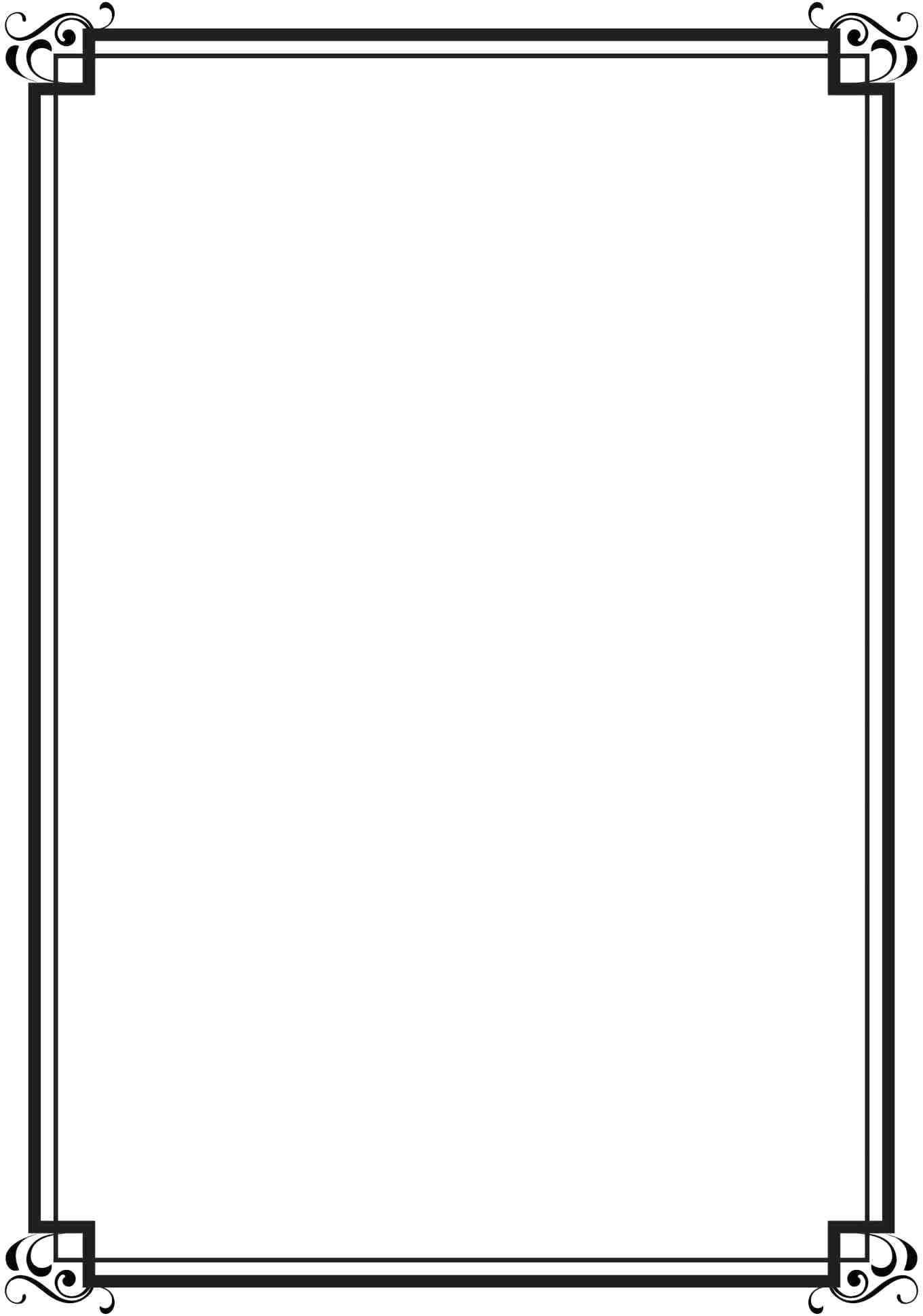Template Certificate Border Design Template Black For Certificates Pertaining To Certificate Border Design Templates