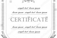 Template Certificate License Vintage Classicstyle Vector Stock throughout Certificate Of License Template