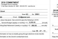 Template Church Pledge Card  Savethemdctrails with Church Pledge Card Template