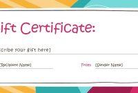 Template Custom Gift Certificate  Savethemdctrails with regard to Custom Gift Certificate Template