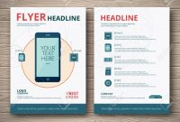 Template Design Business Flyer Or Brochure Smartphone With A in Technical Brochure Template