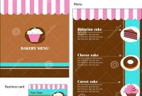 Template Designs Of Bakery And Restaurant Menu Stock Vector with regard to Free Bakery Menu Templates Download
