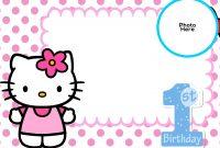 Template Ideas Birthday Invitation Free Hello Kitty St Flower for Hello Kitty Birthday Card Template Free