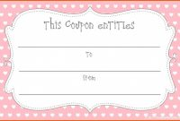 Template Ideas Blank Coupon Christmas Coupons Templates in Blank Coupon Template Printable
