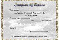 Template Ideas Certificate Of Awesome Baptism Word Catholic with regard to Christian Certificate Template