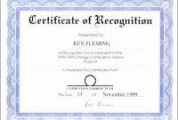 Template Ideas Certificate Of Recognition Word Elegant Ms Rare intended for Certificate Of Recognition Word Template