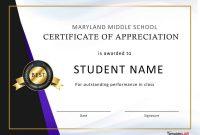 Template Ideas Certificate Student Templatelab Com Certificates inside Free Student Certificate Templates
