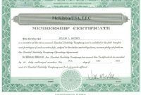 Template Ideas Collection Of Solutions For Llc Membership throughout New Member Certificate Template