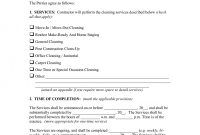 Template Ideas Commercial Cleaning Contract Unique Mercial with Commercial Cleaning Service Agreement Template