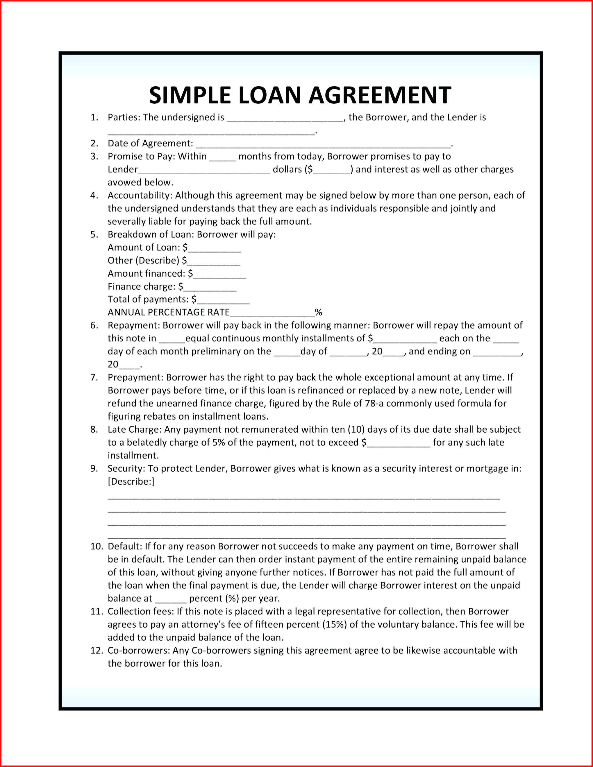 Template Ideas Construction Loan Agreement Form Luxury Templates Pertaining To Construction Loan Agreement Template