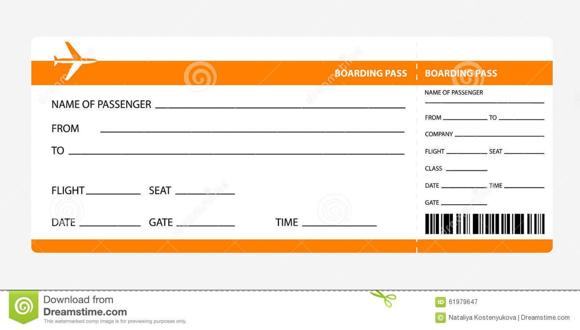 Template Ideas Fake Airline Ticket Plane Word Invitation Freeke With Plane Ticket Template Word