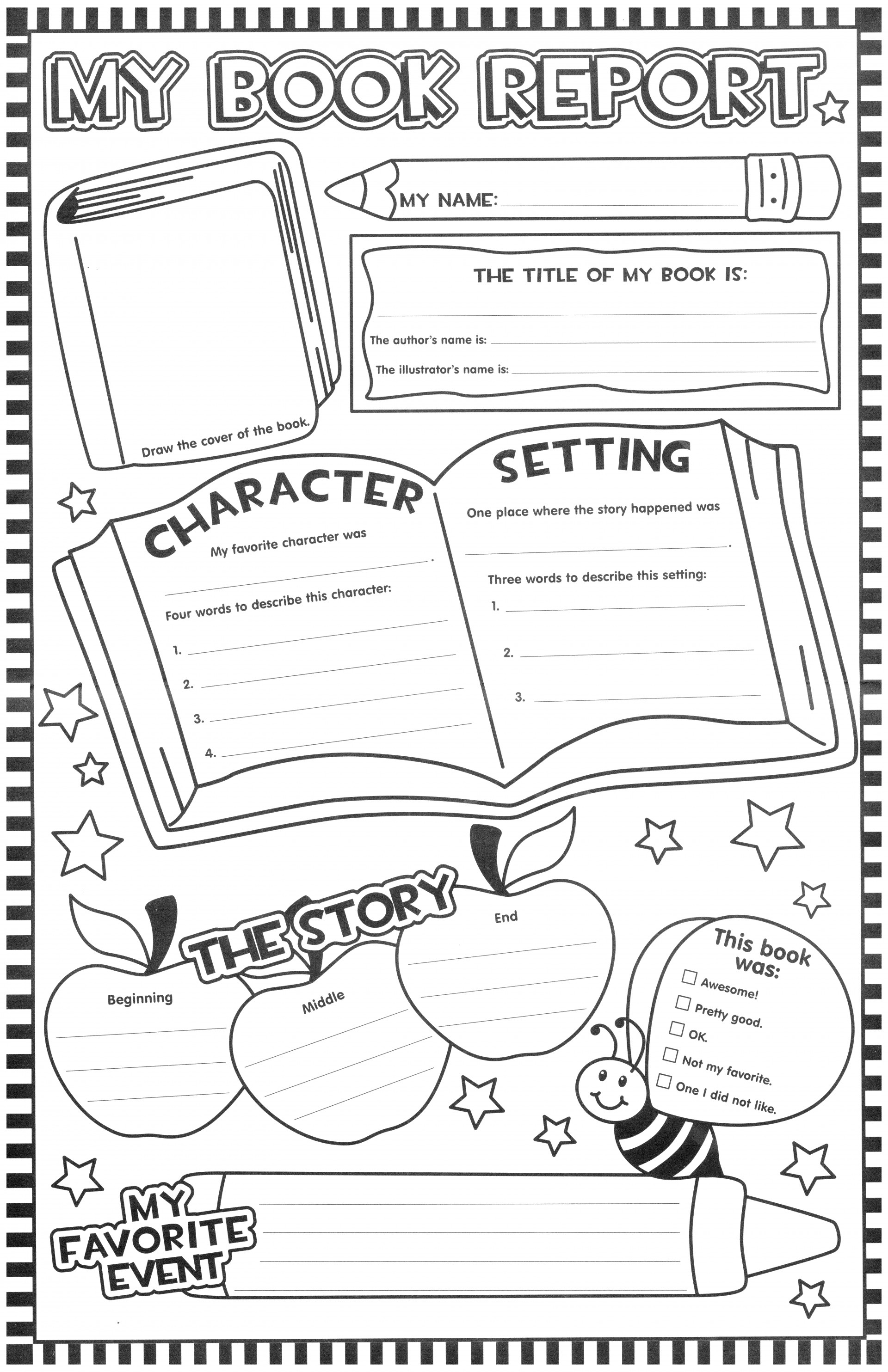 Template Ideas Free Book Report Templates Impressive For St With Regard To 1St Grade Book Report Template