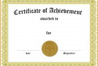 Template Ideas Free Family Reunion Certificates Templates within Word Certificate Of Achievement Template