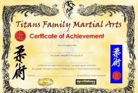 Template Ideas Martial Arts Certificate Border intended for Art Certificate Template Free