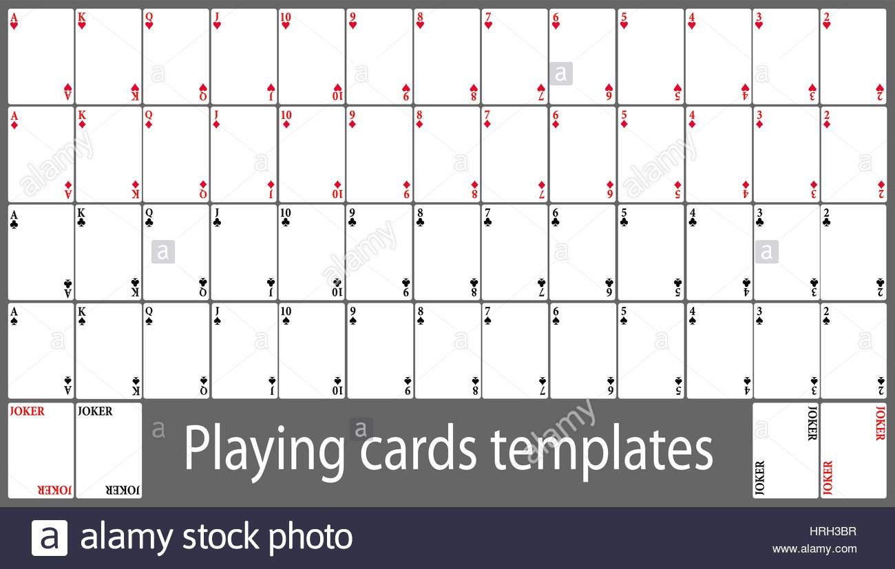 Template Ideas Playing Cards Set Hrhbr Deck Shocking Of Word Throughout Template For Playing Cards Printable