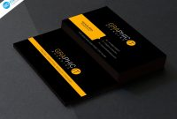 Template Ideas Professional Business Card Design Psd Free regarding Professional Business Card Templates Free Download