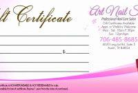 Template Ideas Salon Gift Certificates Templates Nail with Salon Gift Certificate Template