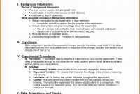 Template Ideas Science Lab Report Unique Fresh Formal Outline with regard to Formal Lab Report Template