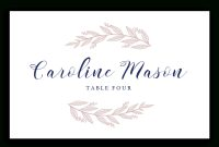 Template Ideas Table Name Archaicawful Cards Wedding Word Place within Table Place Card Template Free Download