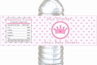 Template Ideas Water Label Beautiful Free Printable Bottle within Free Water Bottle Labels For Baby Shower Template