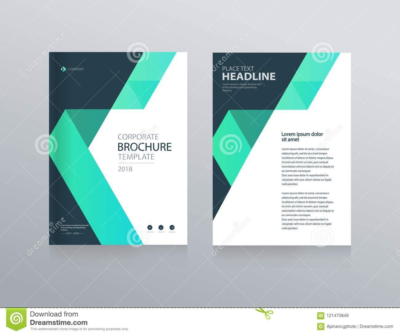 Template Layout Design With Cover Page For Company Profile Annual For Cover Page For Annual Report Template