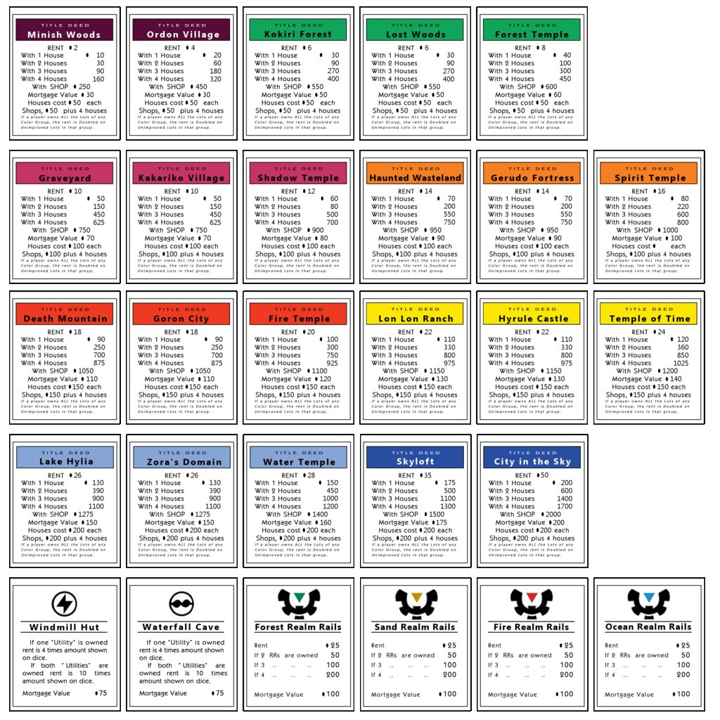 Template Monopoly Property Cards  Savethemdctrails With Monopoly Property Card Template