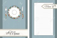 Template Of Front And Back Pages For Menu Royalty Free Cliparts intended for Menu Template For Pages