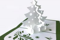 Template Popup Card «Christmas Tree» for 3D Christmas Tree Card Template