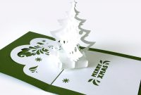Template Popup Card «Christmas Tree» within Pop Up Tree Card Template