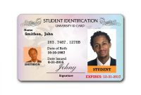 Template Students Write To For Format How With Card  Resume Id in High School Id Card Template