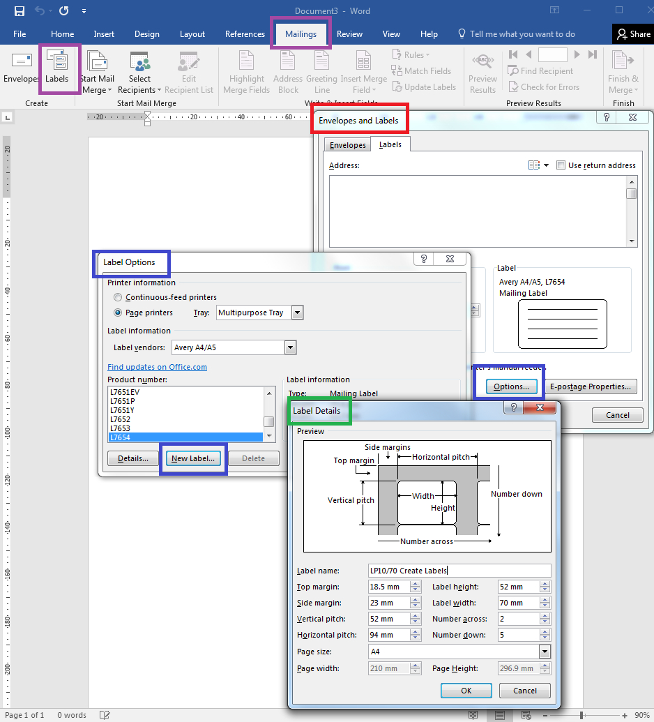 Template Tuesday How To – How To Make Label Templates Using Word's With Regard To How To Set Up Label Template In Word