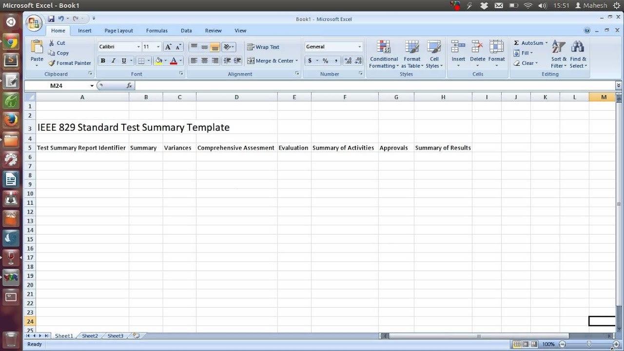 Test Summary Report Excel Template  Mandegar Within Test Summary Report Excel Template