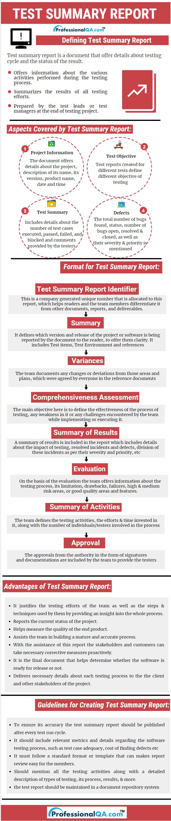 Test Summary Report Professionalqa Regarding Test Result Report Template