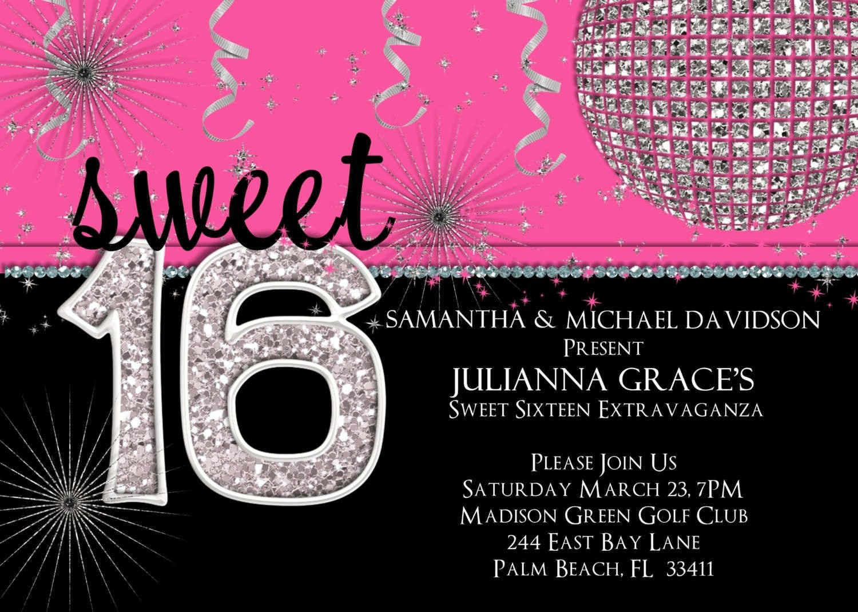 Th Birthday Party Invitations Templates Free  Party Invitation Inside Sweet 16 Banner Template