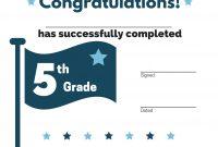 Th Grade Graduation Certificate Template  Printable  Mandegar in 5Th Grade Graduation Certificate Template