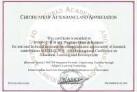 Th International Conference On Education Learning And Development in Conference Certificate Of Attendance Template
