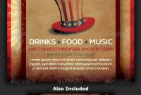 Th Of July Menu Templates And Party Flyers In Pdf Eps intended for 4Th Of July Menu Template