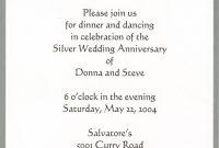 Th Wedding Anniversary Invitation Cards Templates • Invitation within Anniversary Card Template Word
