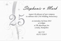 Th Wedding Anniversary Invitations Templates Free Download within Word Anniversary Card Template
