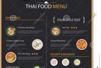 Thai Food Restaurant Menu Template Flat Design  Download From Over regarding Takeaway Menu Template Free