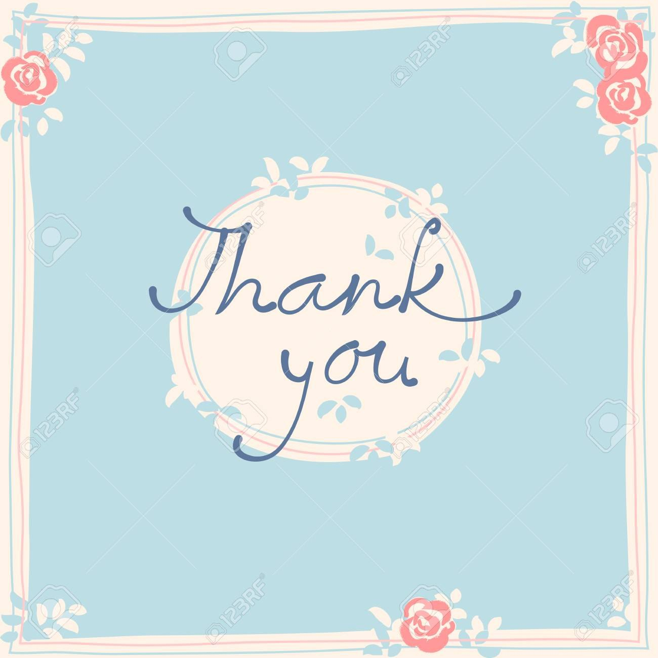 Thank You Card Design Template Simple Greeting Card Elegant Inside Thank You Note Cards Template