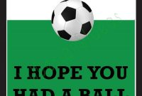 Thank You Card For Party Favors  Soccer Themeludesignandideas throughout Soccer Thank You Card Template