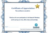 Thank You Certificate Template  Diy Projects To Try  Free Gift pertaining to Certificate Of Participation Template Doc