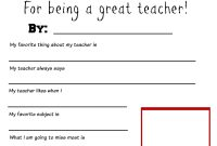 Thank You Teacher Free Printable  School Days  Teacher throughout Thank You Card For Teacher Template